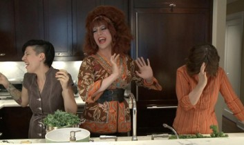 The Vegan Drag Queen Meets Our Hen House: Bringing New Meaning to Kale Salad