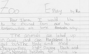 "3rd Grader to Her Teacher: ""Instead of going to the zoo, I will watch a documentary about baboons."""