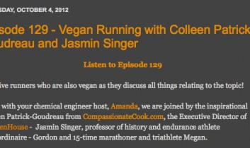 Episode 129 – Vegan Running with Colleen Patrick-Goudreau and Jasmin Singer