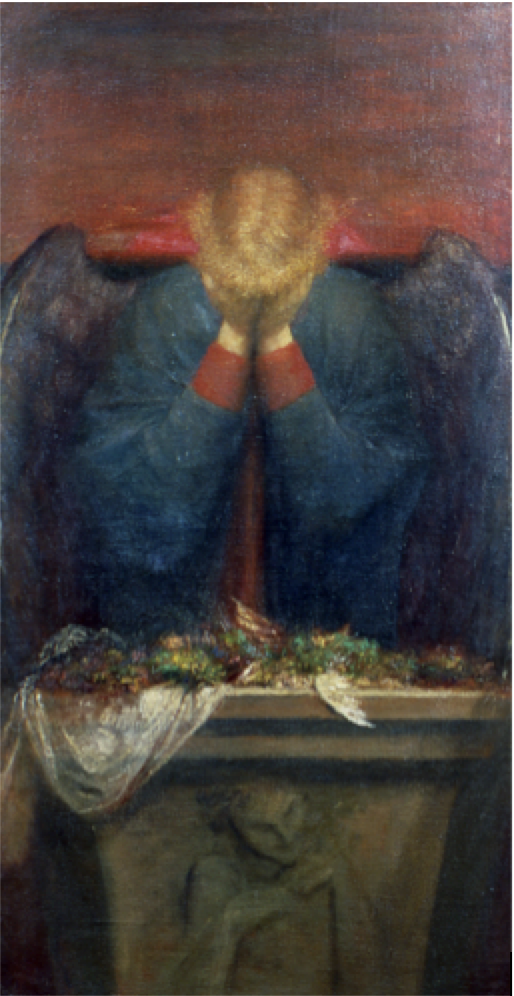 G.F. Watts, A Dedication (1898); 137.2 cm x 71 cm. Oil On Canvas; Collection of The Watts Gallery