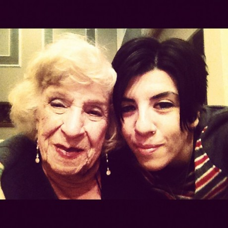 Jasmin Singer with her grandmother, Sherrey Reim Glickman, who is featured on today's show.