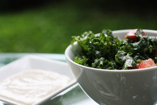 Everyone could use a massage (even kale).