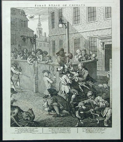 """""""First Stage of Cruelty"""" by William Hogarth"""
