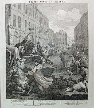 """""""Second Stage of Cruelty"""" by William Hogarth"""