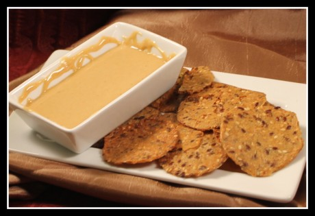 Curry Peanut Butter with Herb crackers