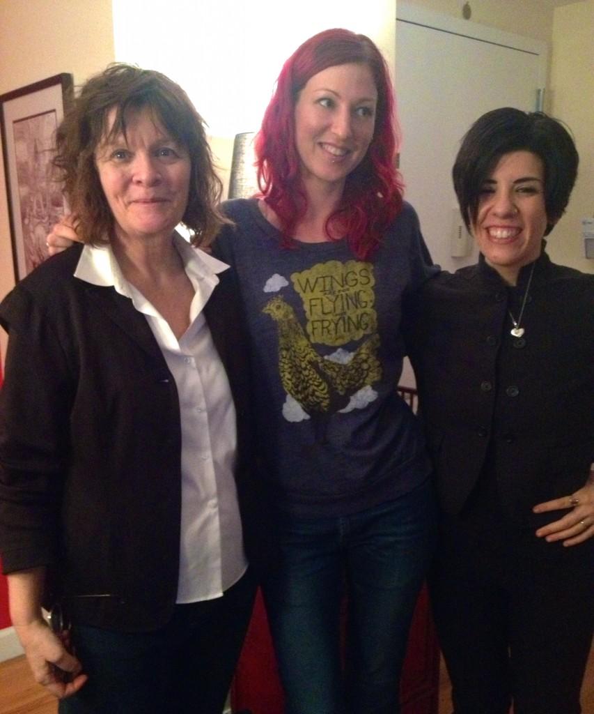 Mariann (left); Me (middle); Jasmin (right)