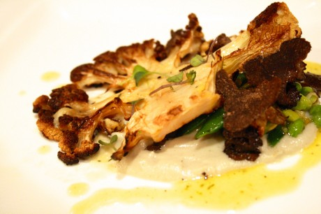 Cauliflower Steak by Jay Astafa. Come to jay kitchen on April 25 and 26 to try this for yourself.