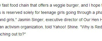 KpopStarz: Red Robin Ad Compares Vegetarianism To A Teenage Phase, Though 13 Percent of U.S. Doesn't Eat Meat