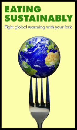 Cover image from Compassion Over Killing's Eating Sustainably brochure.