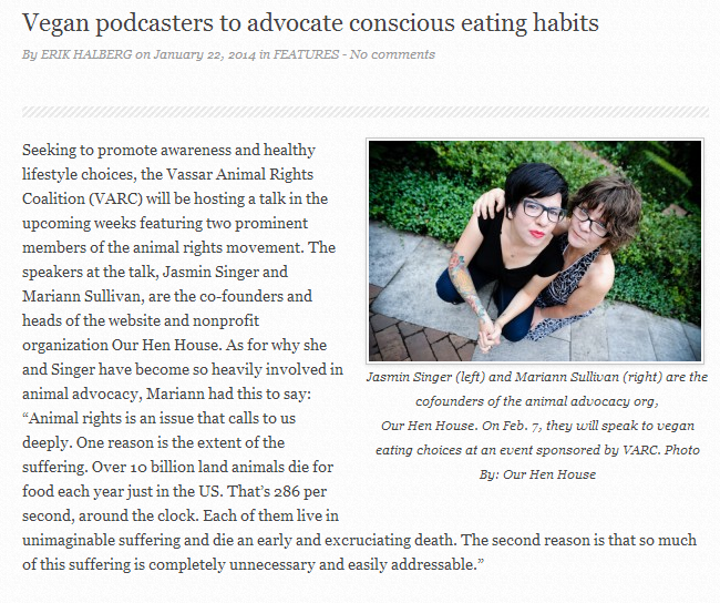 The Miscellany News: Vegan podcasters to advocate conscious eating habits