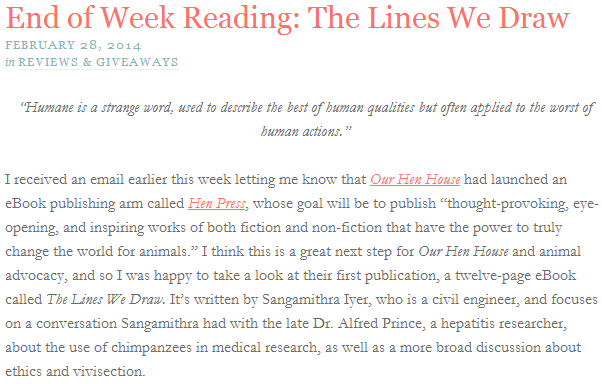 Pickles & Honey: End of Week Reading: The Lines We Draw