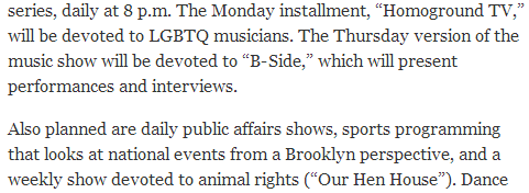 BRIC Arts Center Starts a Cable Channel Focused on Brooklyn