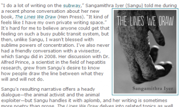 "Striking at the Roots: Activist and Author Sangu Iyer on ""The Lines We Draw"""