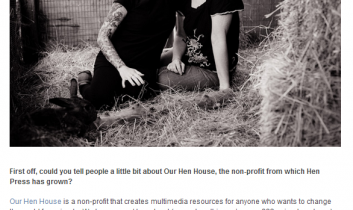 T.O.F.U. Magazine: Our Hen House Launches Hen Press