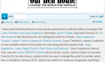 The Jazzy Vegetarian On Air: Changing the World for Animals with Jasmin Singer