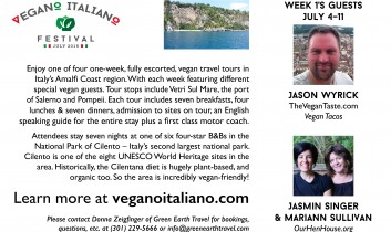 Go to Italy, the Vegan Way, with the Hens!