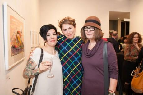 Me, Liz Dee, and Mariann (photo by Derek Goodwin)