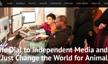 """Turn the Dial to Independent Media and You Might Just Change the World for Animals"" from The Dodo"