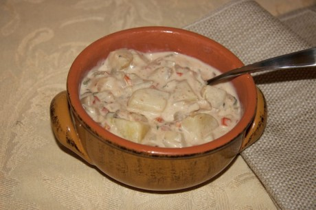Time For Change by Danielle Bussone_Recipe_New England Clamless Chowder