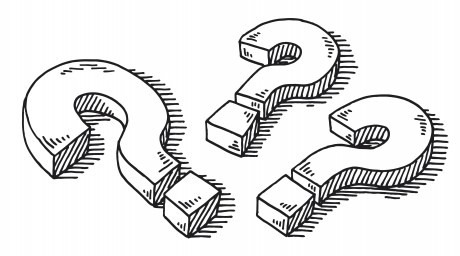 Three Question Marks Drawing