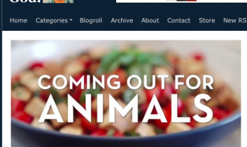 """""""Coming Out for Animals"""" from Joe My God"""