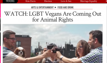 """""""LGBT Advocates are Coming Out for Animal Rights"""" from The Advocate"""