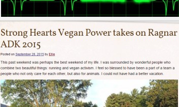 """Strong Hearts Vegan Power takes on Ragnar ADK 2015"" from Ellie Slices Bagels"
