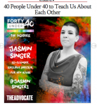"""40 People Under 40 to Teach Us About Each Other"" from Advocate.com"