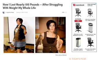"""How I Lost Nearly 100 Pounds — After Struggling With Weight My Whole Life"" from Mind Body Green"