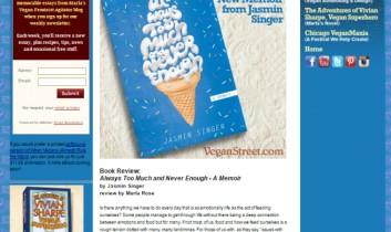 """We Review the Powerful New Memoir from Jasmin Singer"" from Vegan Street"