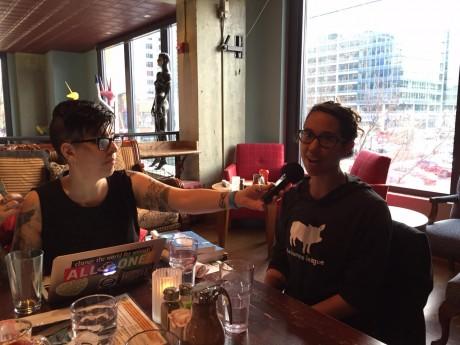 Jasmin interviewing Kassy