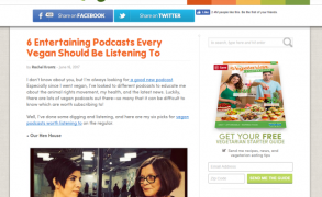 """""""6 Entertaining Podcasts Every Vegan Should Be Listening To"""" from ChooseVeg"""