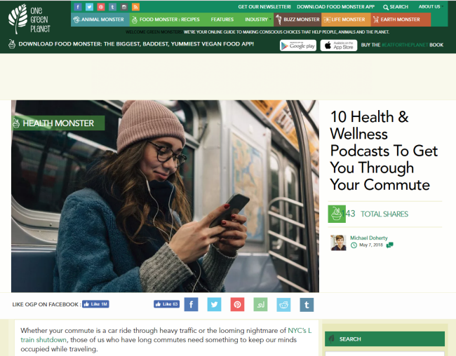 """10 Health & Wellness Podcasts To Get You Through Your Commute"" from One Green Planet"
