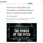 """The Power of the Pitch: Top Journalists and Editors Discuss How to Craft the Perfect Pitch"" - Sentient Media"