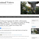 """Investing in Veganism for 2021, with Jasmin Singer, author of The VegNews Guide for Being a Fabulous Vegan"" - Animal Voices Radio/Podcast"