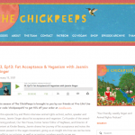 """S3, Ep13: Fat Acceptance & Veganism with Jasmin Singer"" - The Chick Peeps"